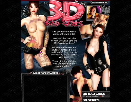 3 D Bad Girls