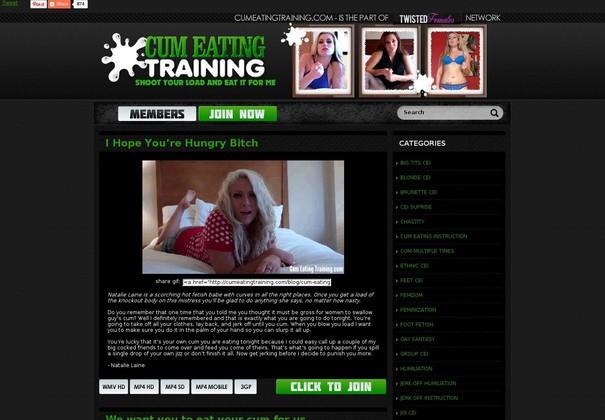 Cum Eating Training