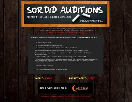 Sordid Auditions