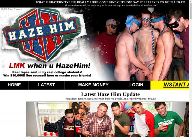haze him