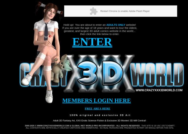 crazy 3 d world